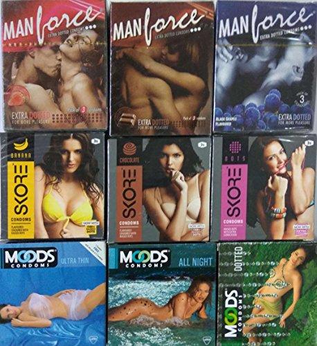 Manforce, Moods, Skore Multi-Sample Condoms, 54-Piece