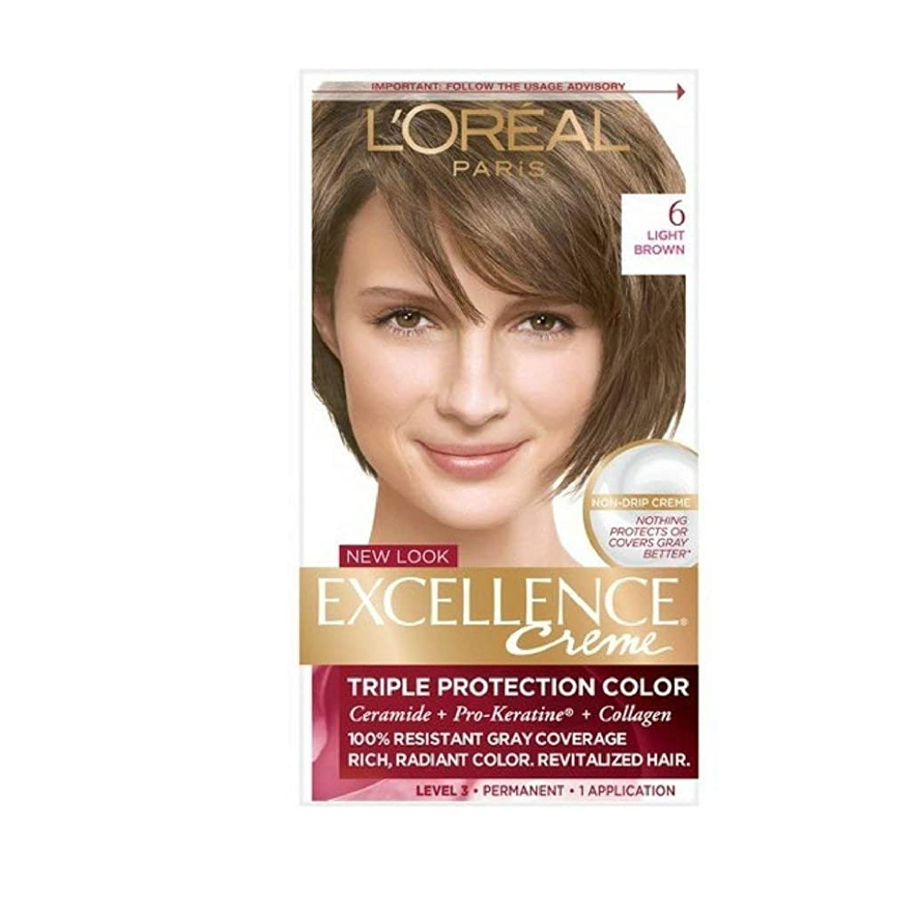 L'Oreal Excellence Creme, Light Brown [6] 1 Each (Pack of 6) zrc0437512