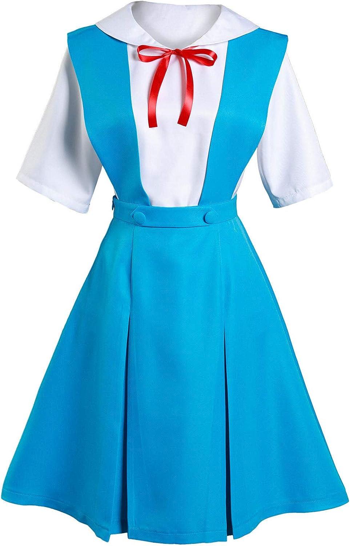 Ya-cos 100% quality warranty Cosplay Evangelion EVA Ayanami Max 59% OFF Rei Costum Uniform