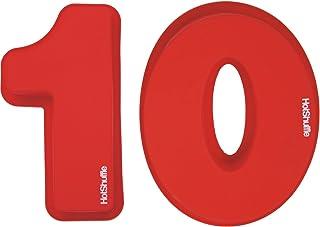 HotShuffle Gran número de Silicona 10 Cake Molde de estaño décimo cumpleaños Aniversario 1 0