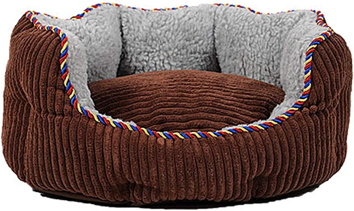 Pet house Pet Bed, Circular Wraparound Pet Sofa Comfortable Soft Dog Mattress Suitable For All Seasons (color   A, Size   Xl)