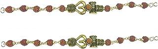 Utkarsh (Set Of 2 Pcs) Stylish Adjustable Trending Brown Beads Rudraksha Mala Chain Om Mahadev Mahakaal Bolenath Lord Shiv...