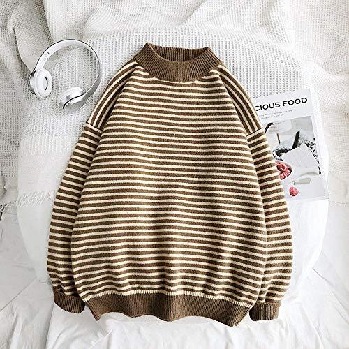 Suéter Cálido De Invierno para Hombre, Ropa De Calle Coreana, Jerseys De Moda, Suéter De Otoño A Rayas,...