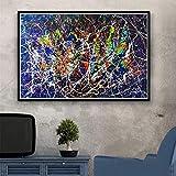 DSFJK Rompecabezas 1000 Piezas Montaje de imágenes de Arte Jackson Pollock Reproducciones abstractas Psychedelic S and Making para Adultos Juegos para niños Juguetes educativos