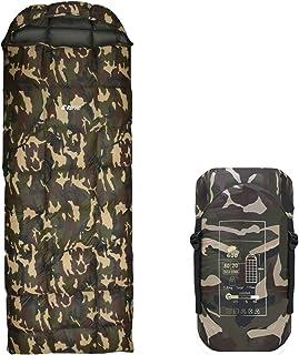 【REMAC】寝袋 ダウン シュラフ 封筒型 コンパクト 防災用品 最低使用温度 -25℃ 1800g (迷彩)