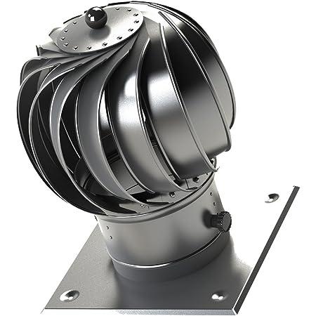 Hochwertiger Edelstahl rotierenden Spinnl/üftungsschornsteinhaube airroxy 200mm