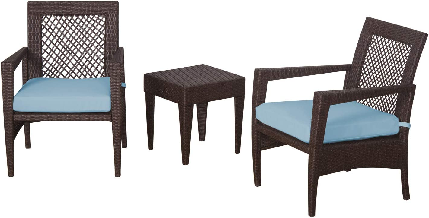 Auro Brisbane Outdoor Furniture 3 Set Reservation Piece Patio Rattan All Clearance SALE Limited time