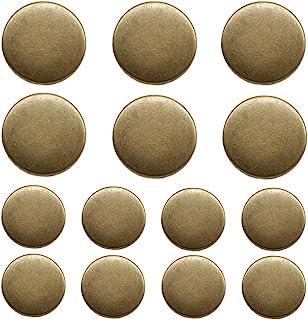 YaHoGa 14 Pieces Antique Metal Buttons 20mm 15mm Blazer Buttons Set for Blazers, Suits, Sport Coat, Uniform, Jackets (MB20...
