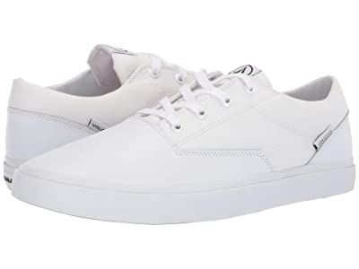 Volcom Draw Lo Suede Shoes (White Flash) Men