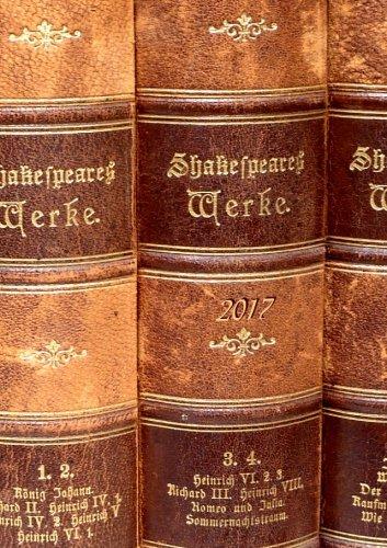 Kalender 2017 - Shakespeares Werke: DIN A5 - liniert - 1 Woche pro Doppelseite