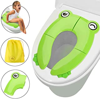 Potty Training Seat for Kids, Portable Reusable Potty Training Seat Cover Upgrade Folding Large Non-Slip Pads with Carry B...