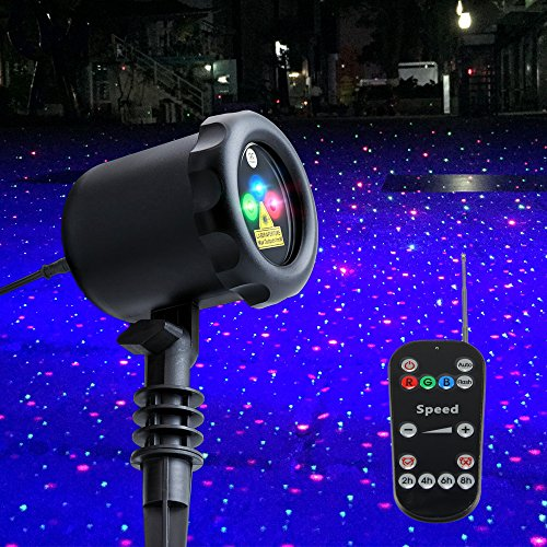 poeland Garden Lights Outdoor Star Projector Static Firefly with Led