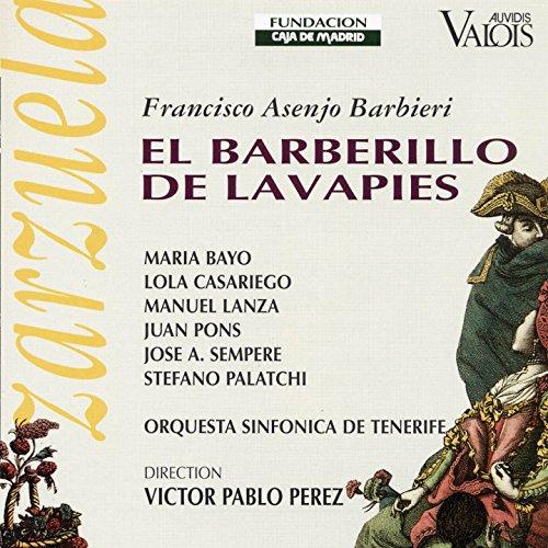El Barberillo de Lavapies, Act II: La puerta de esta casa (Don Pedro, Don Luis, Lamparilla, Paloma, Guardias, Marquesita, Majos)