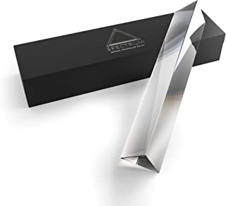 """Spectrum Optics - 6"""" Triangular Photography Prism - Premium Quality Optical Crystal Glass for Photography and Light Spectrum Physics 150mm"""