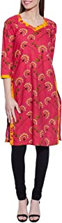 Long Sleeve V-Neck Pink Print Cotton Dress - Unique Women's Fashions