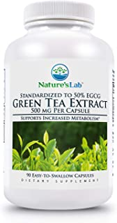 Green Tea Extract with Egcg - 500mg - 90 Capsules (3 Month Supply) Powerful Antioxidants, Weight Support, Energy, Polyphenols, Egcg