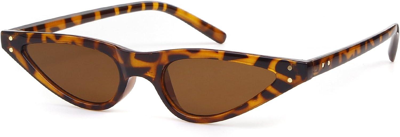 Cat Eye Sunglasses For Women Vintage Retro Small Plastic Frame Glasses