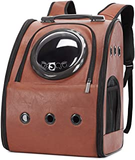 Texsens Innovative Traveler Bubble Backpack Pet Carriers Airline Travel Approved Carrier Switchable Mesh Panel for Cats an...