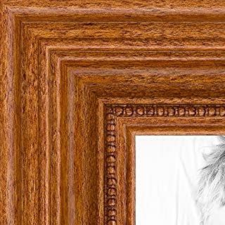 ArtToFrames 10x30 inch Honey stain Wood Picture Frame, 2WOM0066-81375-YHNY-10x30