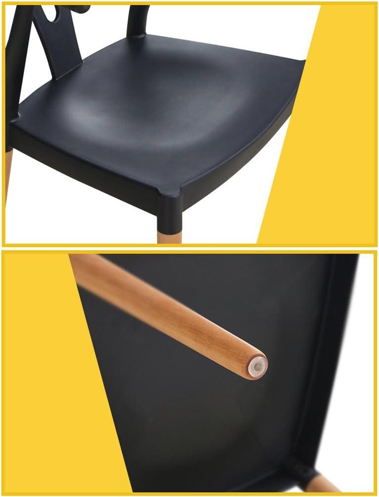 WDX- Chaise simple de chaise de salle à manger en bois massif mode (Color : B) C