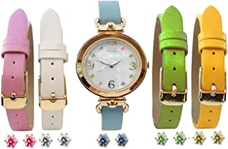 Womens Interchangeable Watch Set Faux MOP Dial Watch Set Crystal Markers 16 Pieces