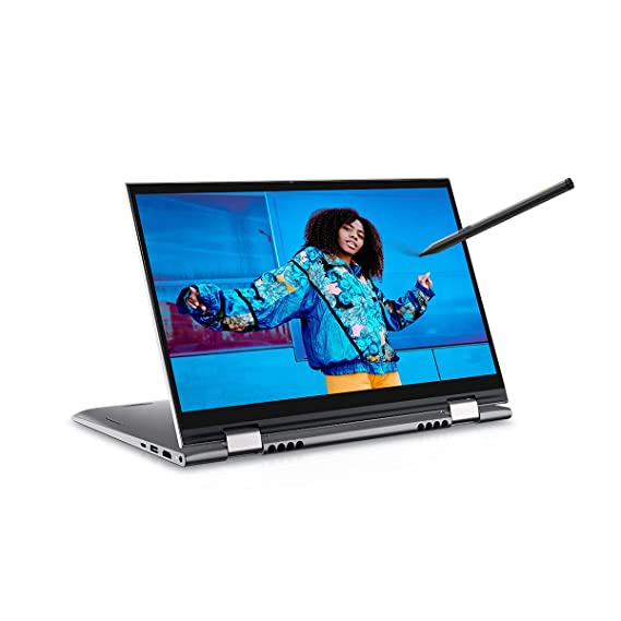 """Dell Inspiron 5410 14"""" FHD Touch Display 2in1 Laptop (i5-1135G7 / 16GB / 512GB SSD / Integrated Graphics / Win 10 + MSO / Backlit KB + FPR + Active Pen / Silver Metal Color) D560477WIN9S"""