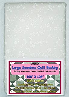 Quilt Backing, Large, Seamless, from AQCO, White, C42250-A01