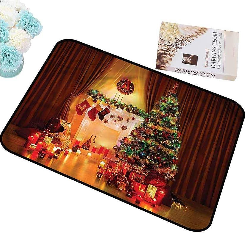 たるみお願いします解体するクリスマスマット屋内屋外滑り止めドアマット全天候用ドアマットクリスマスツリーお祝いプレゼントお手入れが簡単()インチ 75x45cm