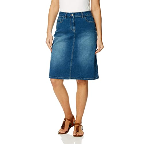 592f6cbe17b Roman Originals Women A-Line Cotton Denim Skirt - Ladies Short Above Knee  Length Mini