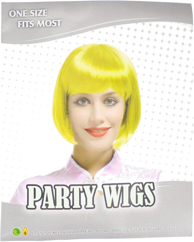 Einheitsgröße Party Bob Perücke Kostümzubehör-Gelb B01HTH5AVK Elegant  | Outlet Store Online