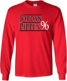 Long Sleeve RED Chicago Jordan Pippen 96