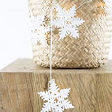 Ivory House LED Garland with Meta Snowfall