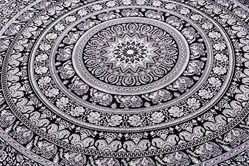 Tapiz regalo tapices hippie Mandala bohemio psicodélico intrincado indio colgante de pared ropa de cama colcha