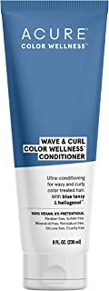 ACURE Wave & Curl Color Wellness Conditioner | 100% Vegan | Performance Driven Hair Care | Blue Tansy & Sunflower Seed Extract - Ultra-Conditioning For Wavy & Curly Color Treated Hair | 8 Fl Oz