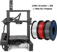 LONGER LK4 Pro 3D Printer, 1Kg 1.75mm PLA 3D Printer Filament Silver, White, Red Bundle