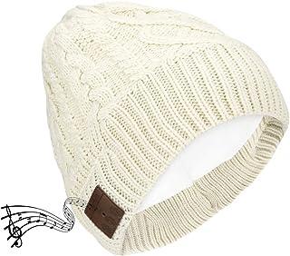 Achort Cappellino lavorato a maglia Bluetooth Cuffia senza fili Cappello musicale USB Ricaricabile Inverno Fibre acriliche...