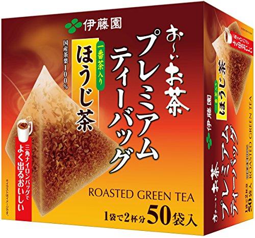伊藤園 おーいお茶 プレミアムティーバッグ 一番茶入りほうじ茶 1.8g ×50袋
