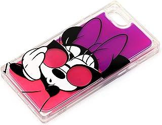 【カラー:ミニーマウス】iPhoneSE 第2世代 iPhone8 iPhone7 6s 6 ディズニー 耐衝撃 ネオンサンド ケース カバー ハイブリッド tpu ソフト クリア ハード ソフトケース ミッキー ミニー ドナルド デイジー ア...