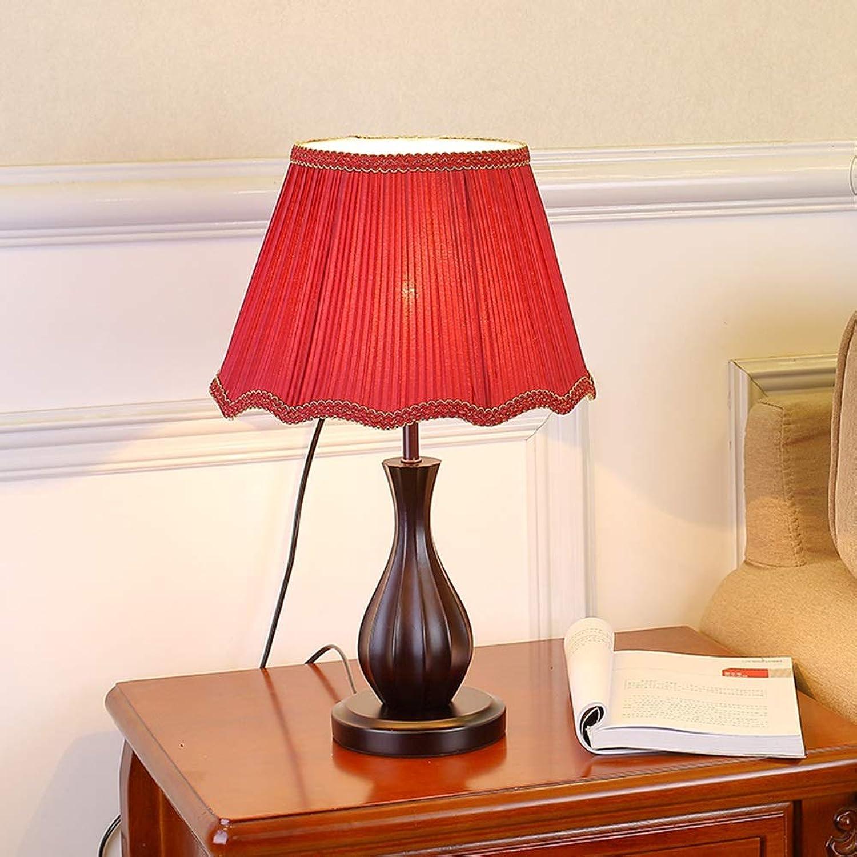 TD Schlafzimmer Nachttischlampe 220 V Knopfschalter Massivholz Vintage Glühlampen Hochzeit Dekoration
