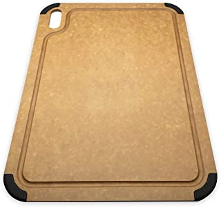 Fortune Candy Cutting Board, Wood Fiber Composite Cutting Board, Eco-friendly, Non-slip Silicone Grips, Juice Groove, Dishwasher Safe, BPA-free 17.3 x 12.8 inch