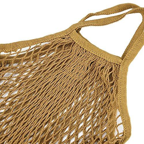 DFVVR Home & Garden, Mesh Net Turtle Bag String Shopping Bag Reusable Fruit Storage Handbag Totes New, Housekeeping & Organizers (Yellow)