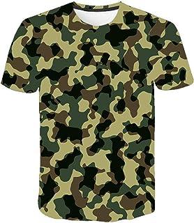 Camiseta para Hombre Moda para Hombre Deportes Fitness 23 Camuflaje Camisa 3DT de Manga Corta Camisa para camuflaje-TXA1071_M