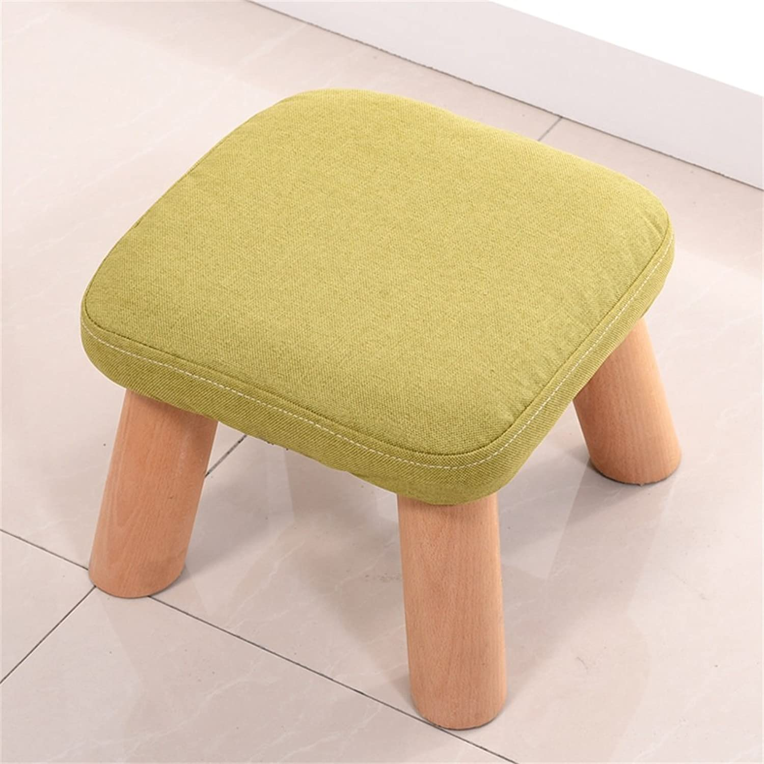 Footstools, Stool Solid Wood shoes Bench Round Upholstered Sofa Bench (color   C)