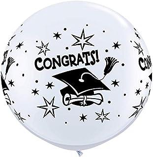 """Qualatex 31396 Congrats! Cap Wrap Latex Balloons, 36"""", Multicolor, Pack of 2"""