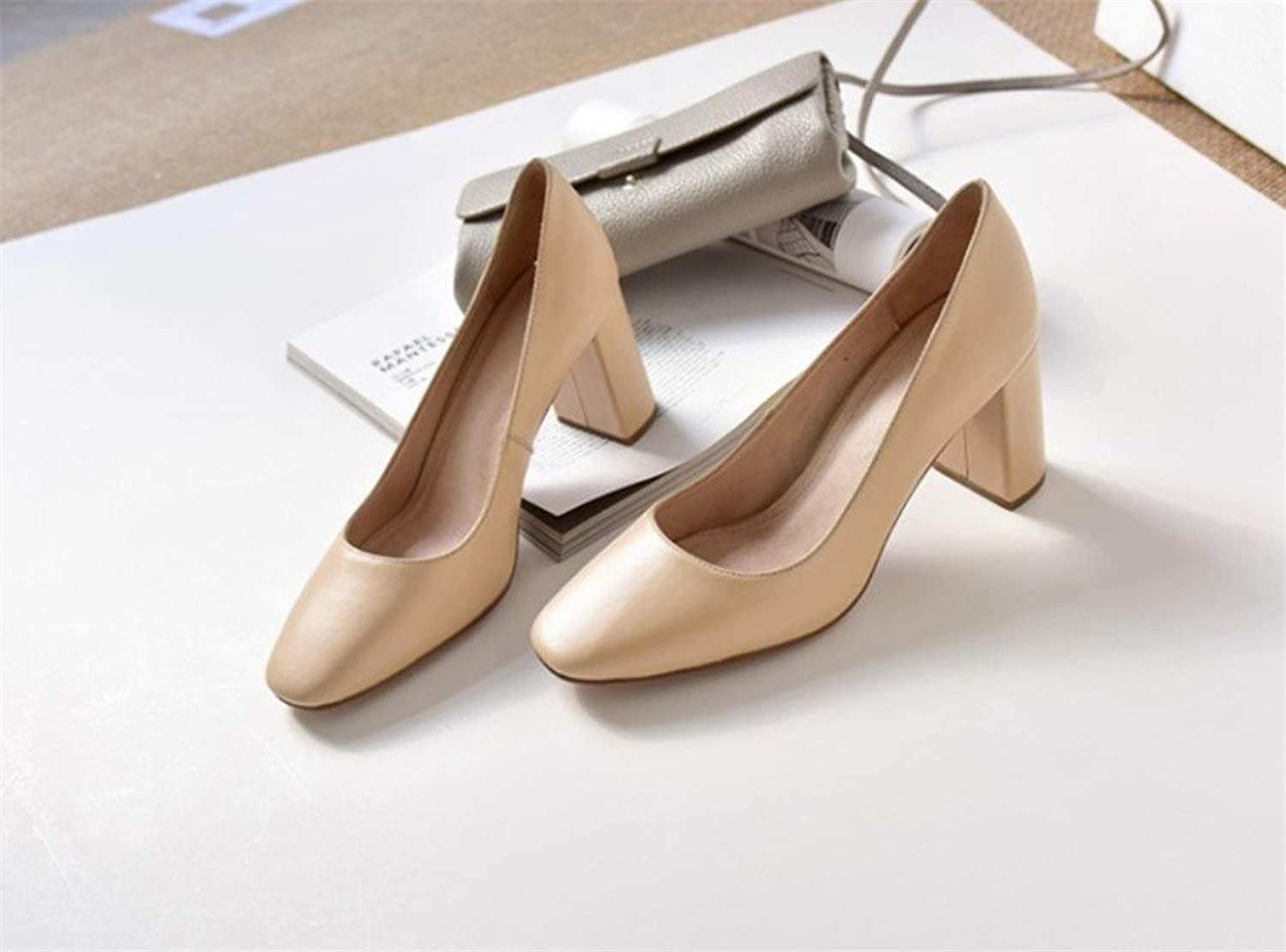 High Heels,Sandals Women Bride Pumps Wedding Court shoes Dress Dating Office Party Blink Pointed shoes,Beige,EU36