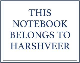 This Notebook Belongs to Harshveer