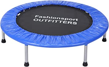 Fashionsport OUTFITTERS 15 FT Trampoline with Safety Enclosure Net, Basketball Hoop and 4 Steps Ladder-Trampoline for Kids