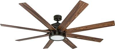 Honeywell Ceiling Fans 50609-01 Xerxes Ceiling Fan, 62, Oil Rubbed Bronze (Renewed)