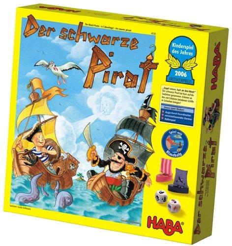 Haba - 4232 - Le Pirate Noir - Langue : allemande Elu jeu pour enfant de l'année 2006