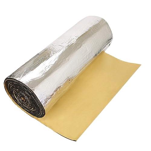 uxcell/® 197mil//5mm 10.76sqft Car Auto Acoustic Barrier Heat Sound Absorption Deadener Mat With Intensive Alumium Foil 40x40